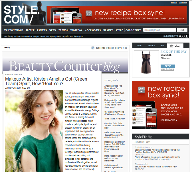 PRESS SHOT: STYLE.COM BEAUTY COUNTER