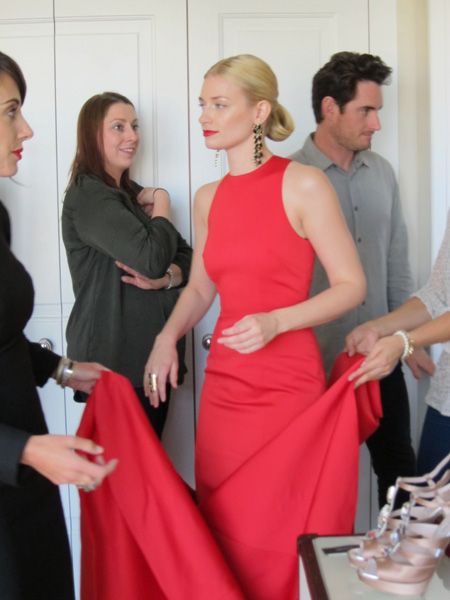 Beth Behrs behind the scene