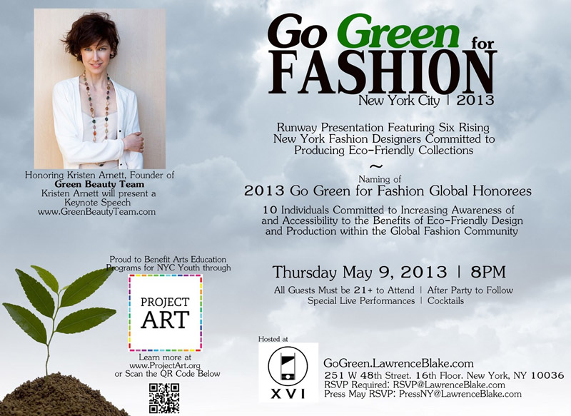 GO GREEN FOR FASHION NYC PROUD TO RECOGNIZE GREEN BEAUTY TEAM