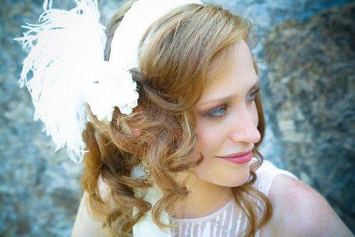 peaceful bride red hair
