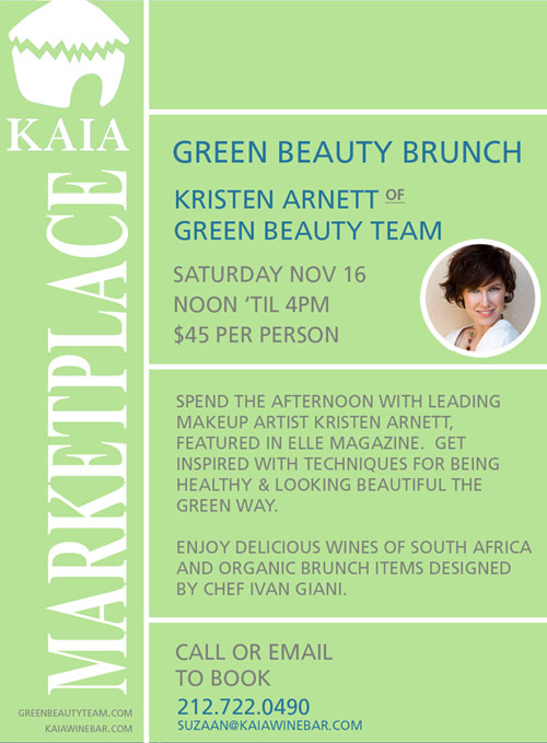 Green Beauty Brunch with Kristen Arnett in NYC