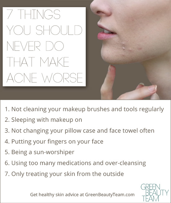 7 Things That Make Acne Worse